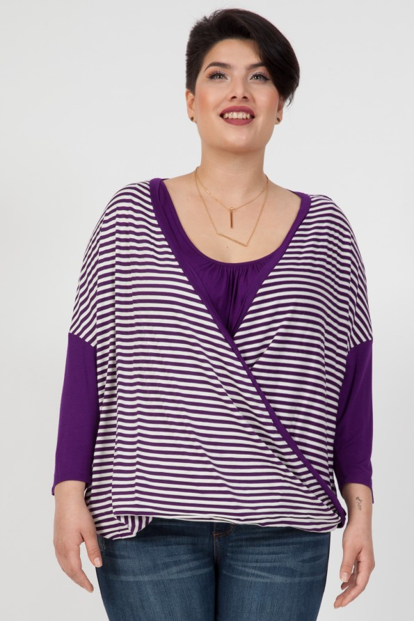 3/4 SURPLUS W/ STRIPES AND SOLID BACK<br />SIZE 1X-3X<br />2-2-2 (6 PCS)